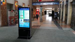 A UTG LCD Standup Screen in the Ottawa City Hall