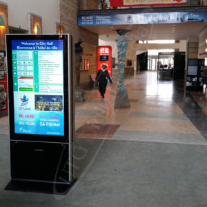 Ottawa City Hall – LCD Standup Screen