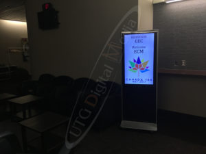 A UTG LCD Standup Screen at the PWGSC Facility