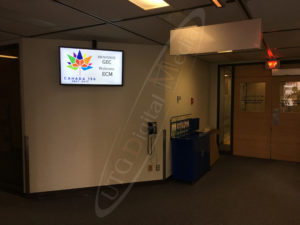 A UTG Wall Mounted LCD Screen at the PWGSC