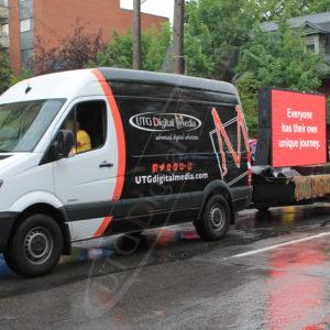 Ottawa Pride Parade – Mobile LED Trailer