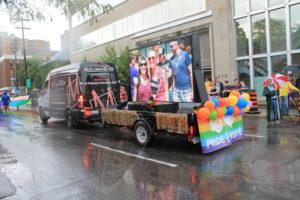 A UTG Mobile LED Trailer at the Ottawa Pride Parade