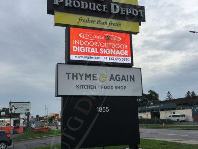 Produce Depot – Outdoor LED Pylon