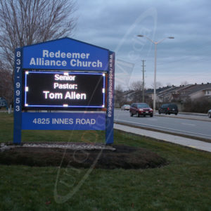 Redeemer Church – Outdoor LED Pylon