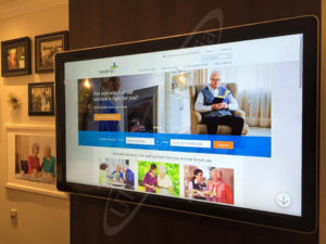 A UTG Touch Screen at Revera Retirement Home