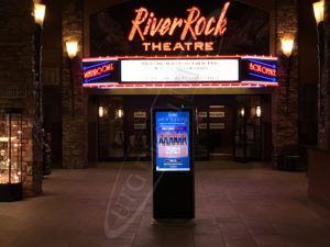 A UTG LCD Standup Screen at the River Rock Casino