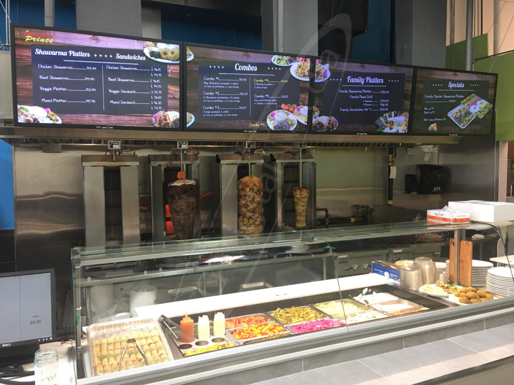 Shawarma Prince Wall – Mounted LCD Screen