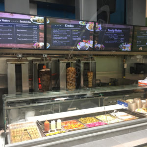 Shawarma Prince Wall – Mounted LCD Screen