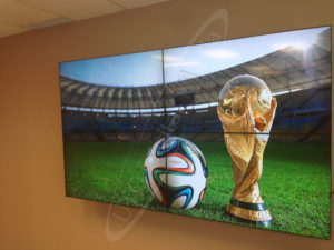 A UTG Video Wall at a Showroom