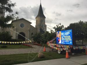 A UTG Mobile LED Trailer at St Charbel's Perish in Ottawa