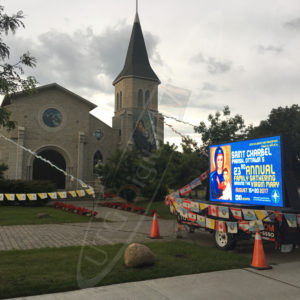 St. Charbel Perish – Mobile LED Trailer