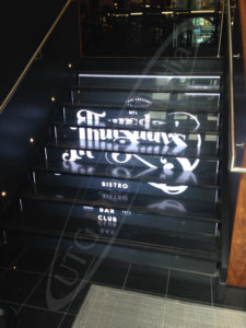 Picture of our LED Staircase at Thursday's Bistro in Montreal