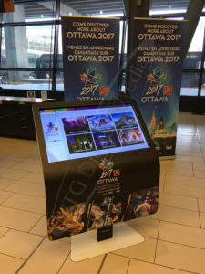 A UTG Touch Screen at the Ottawa International Airport