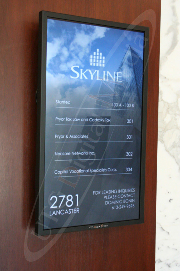 UTG Skyline Directory – Wall Mounted LCD Screen