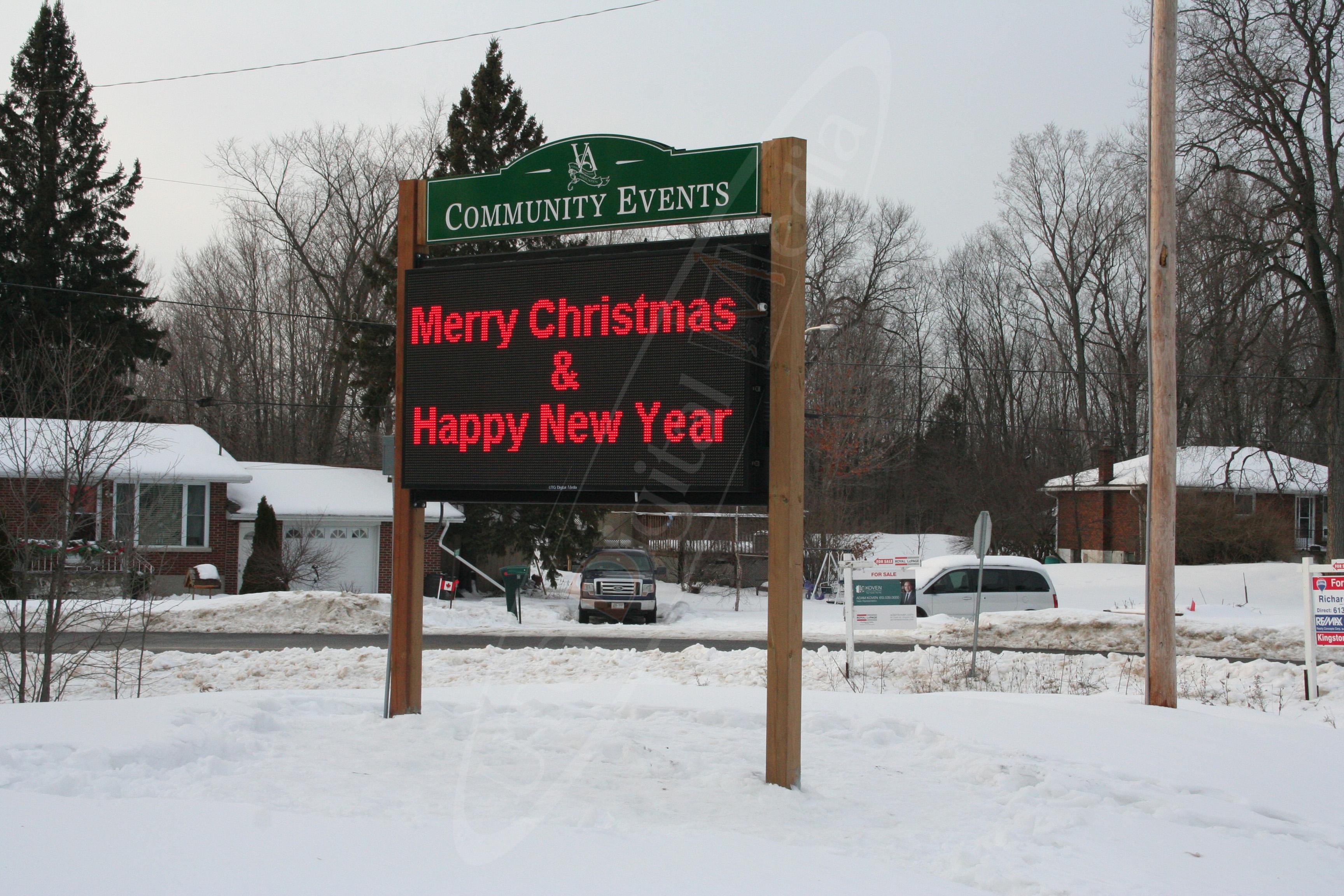 Verona Community Association – Outdoor LED Pylon