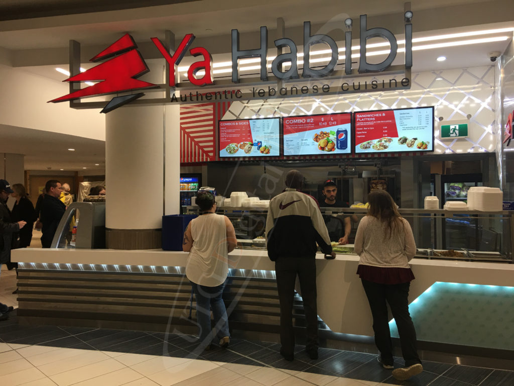 Ya Habibi Restaurant – Wall Mounted LCD Screen