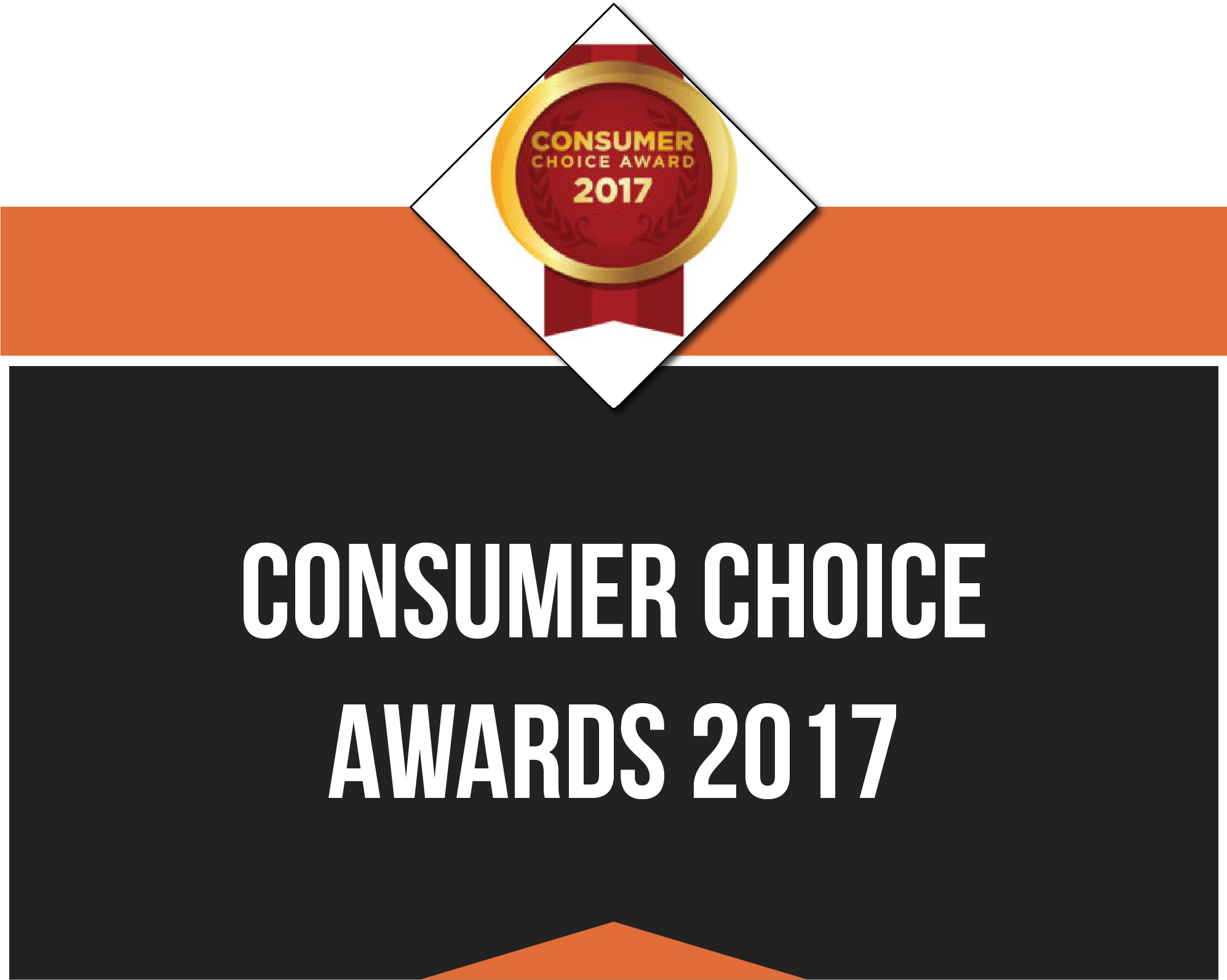 Award Banner for Consumer Choices Awards 2017