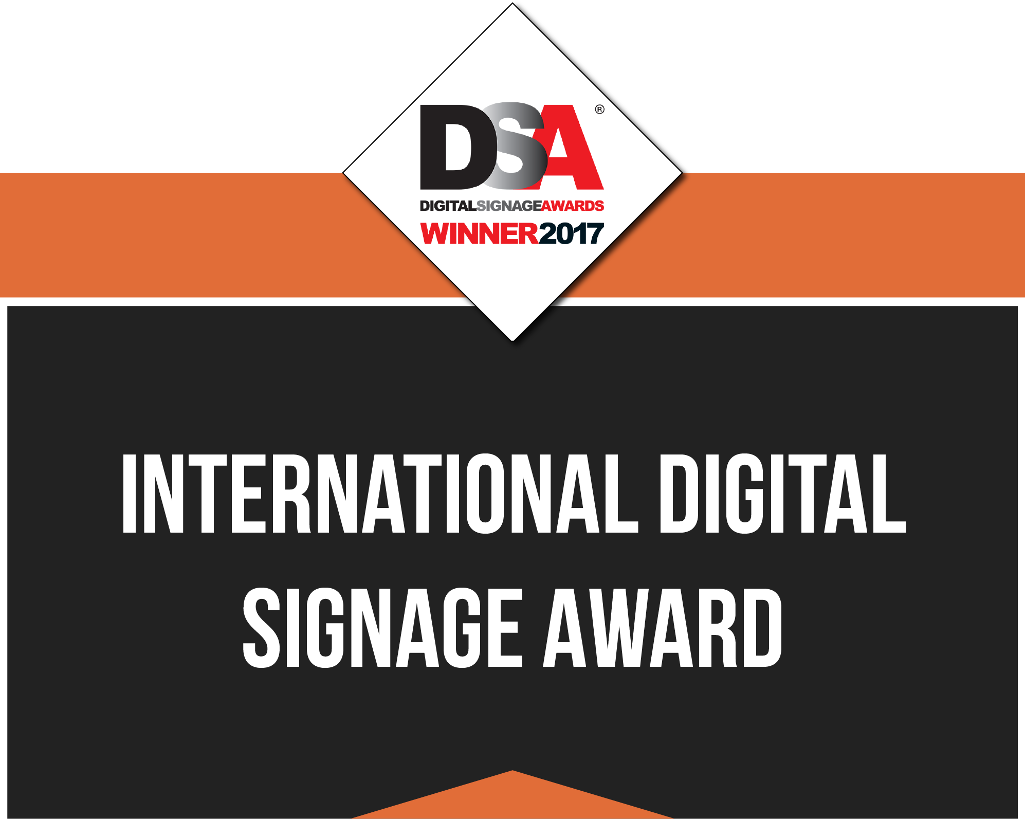 Award Banner for International Digital Signage Award