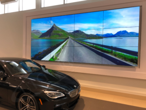 With an ultra narrow bezel design, UTG Digital Media Video Wall displays width of screen-joining borders