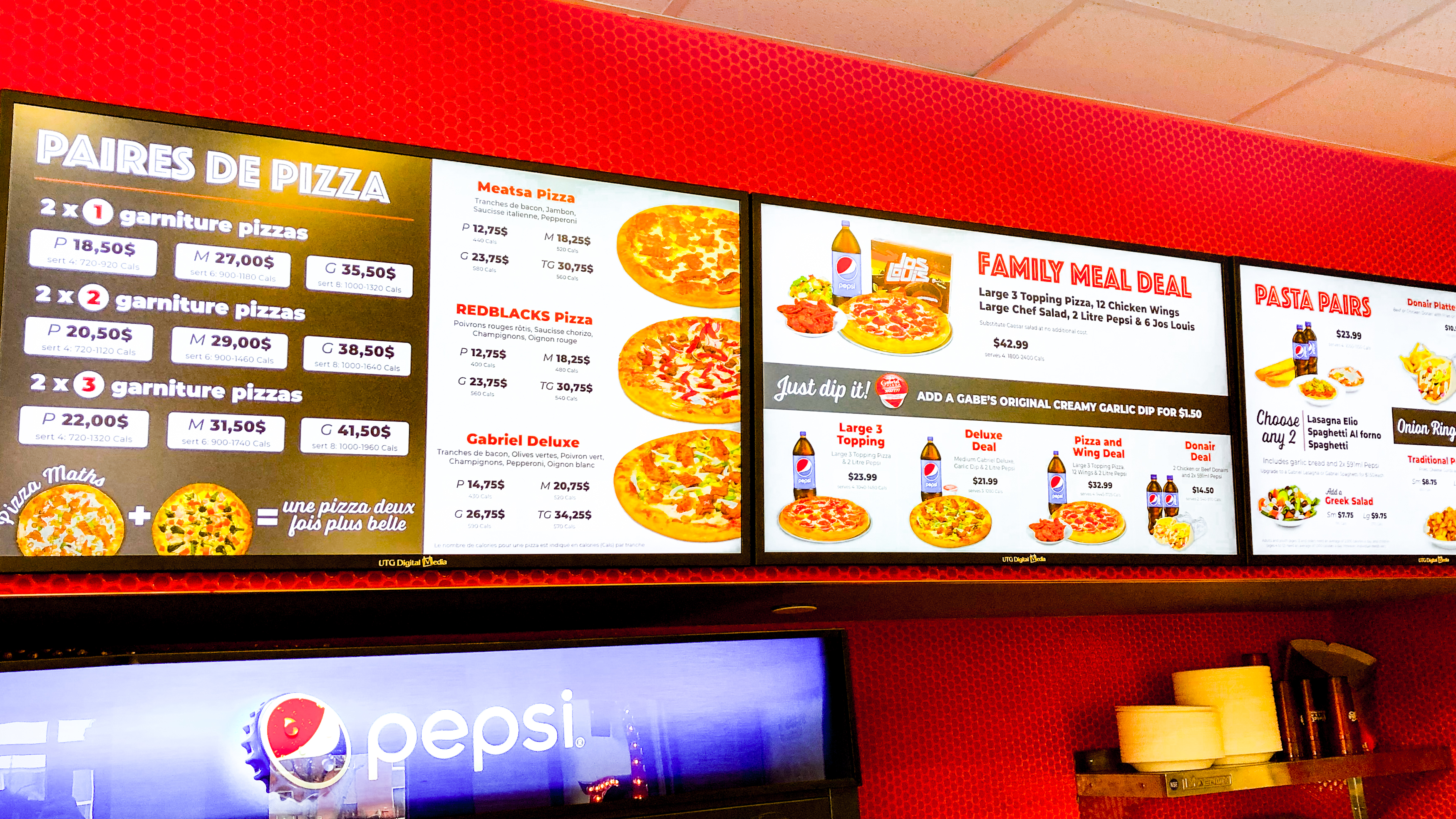 UTG DIGITAL MEDIA RENEWS DIGITAL MENU BOARD CONTRACT WITH GABRIEL PIZZA
