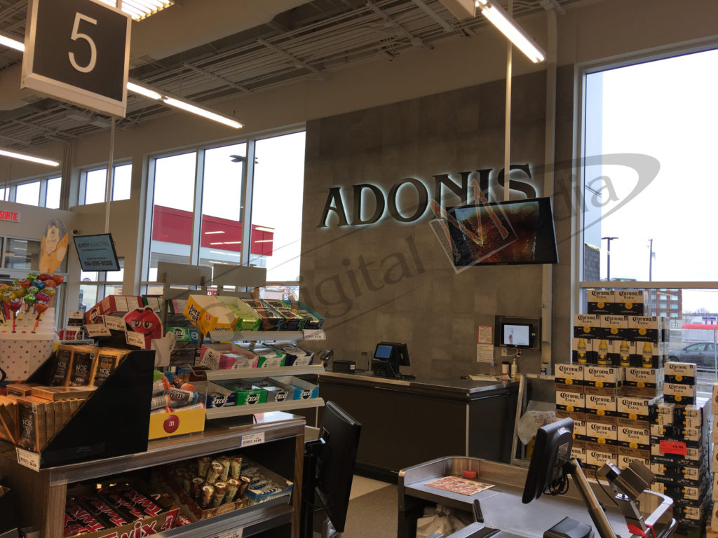 Marche Adonis – Wall Mounted LCD Screen