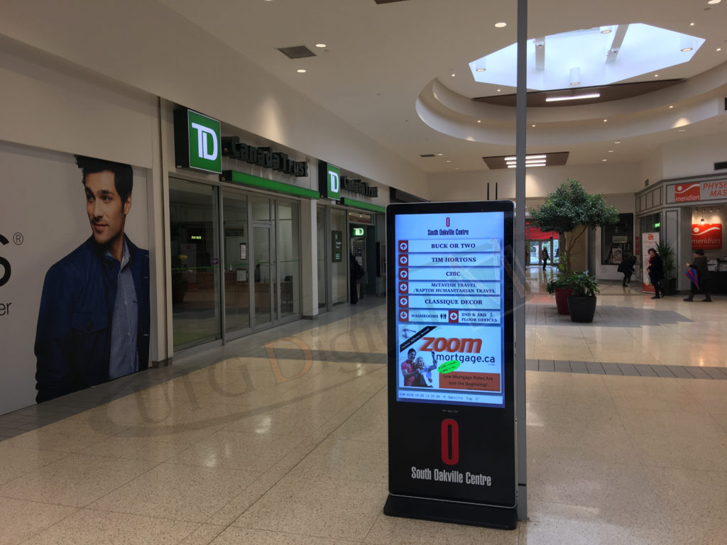 South Oakville Mall – LCD Standup Screen