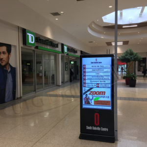 South Oakville Mall – LCD Standup Screen