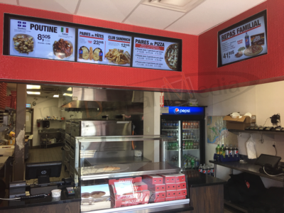 Gabriel Pizza Franchise – Wall Mounted LCD Screen