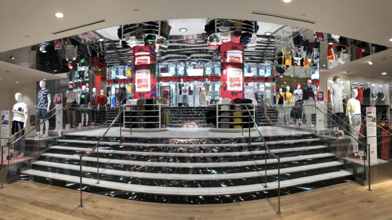 UTG Digital Media Installs One of a Kind Led Stairs and Ticker for Grand Retail Expansion at the CF Toronto Eaton Centre