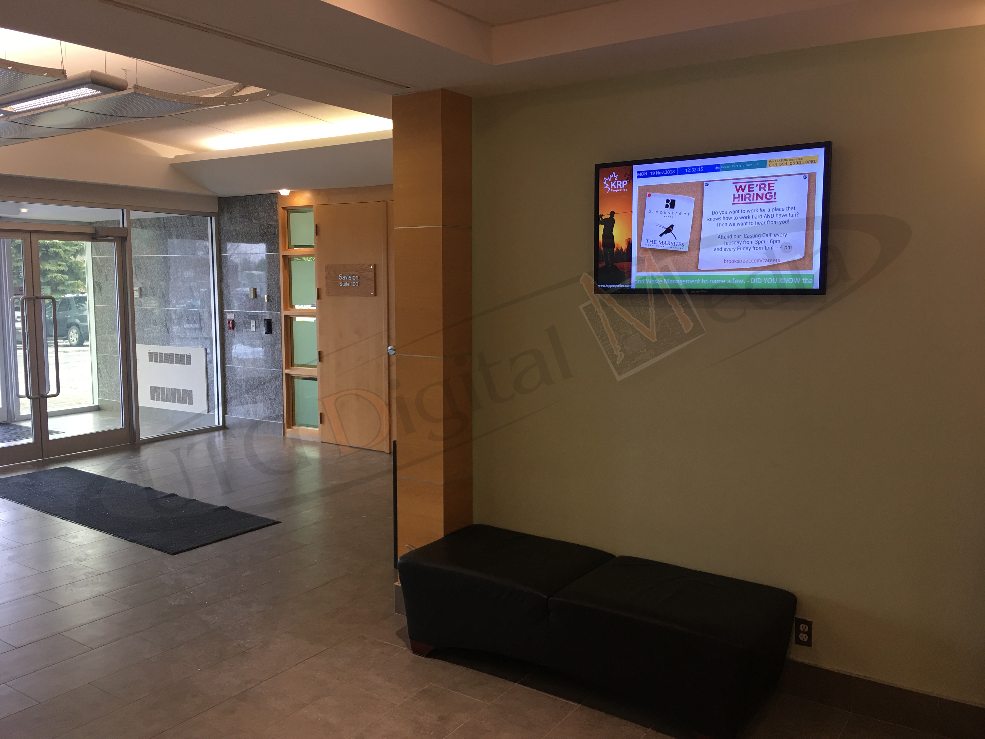 KRP PROPERTIES – WALL MOUNTED LCD SCREEN