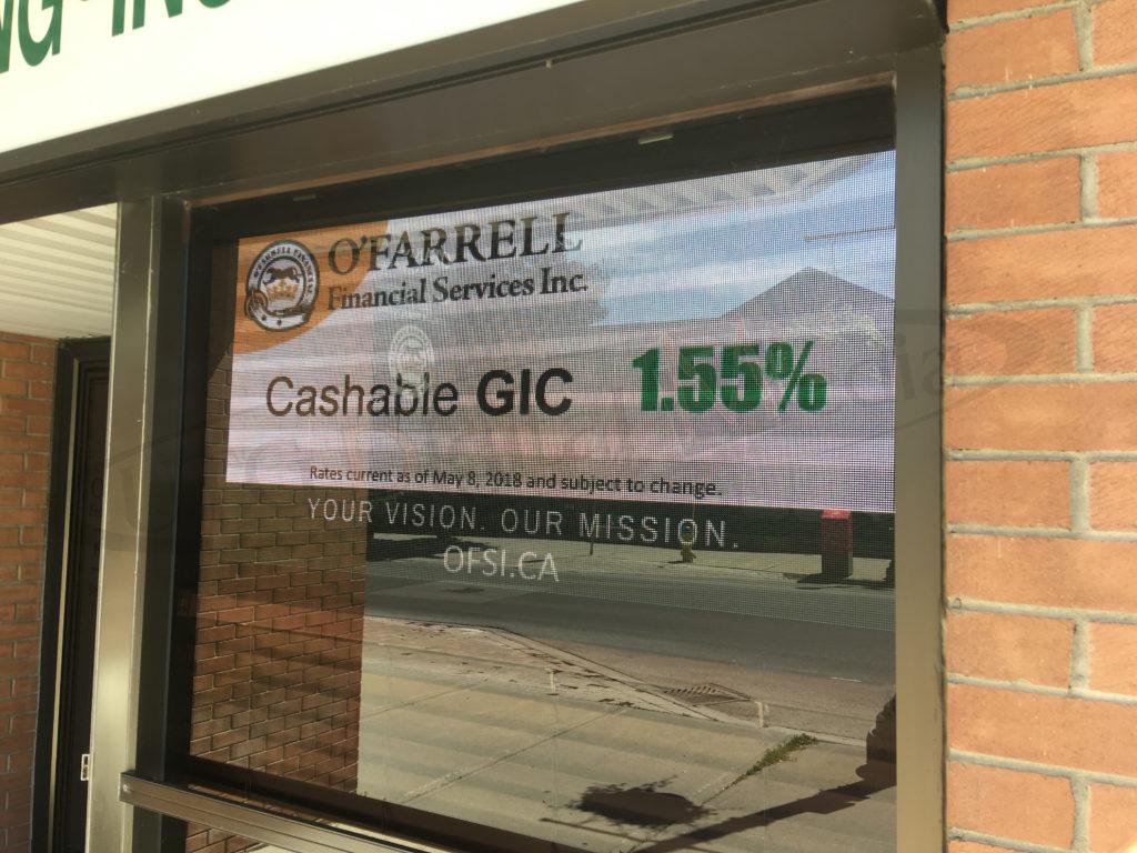 O'Farrell Financial – Window Sign