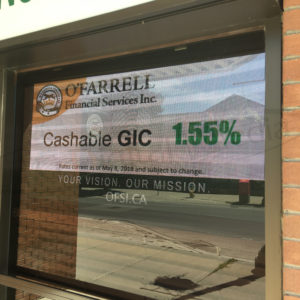 O'Farrell Financial – Window Sign