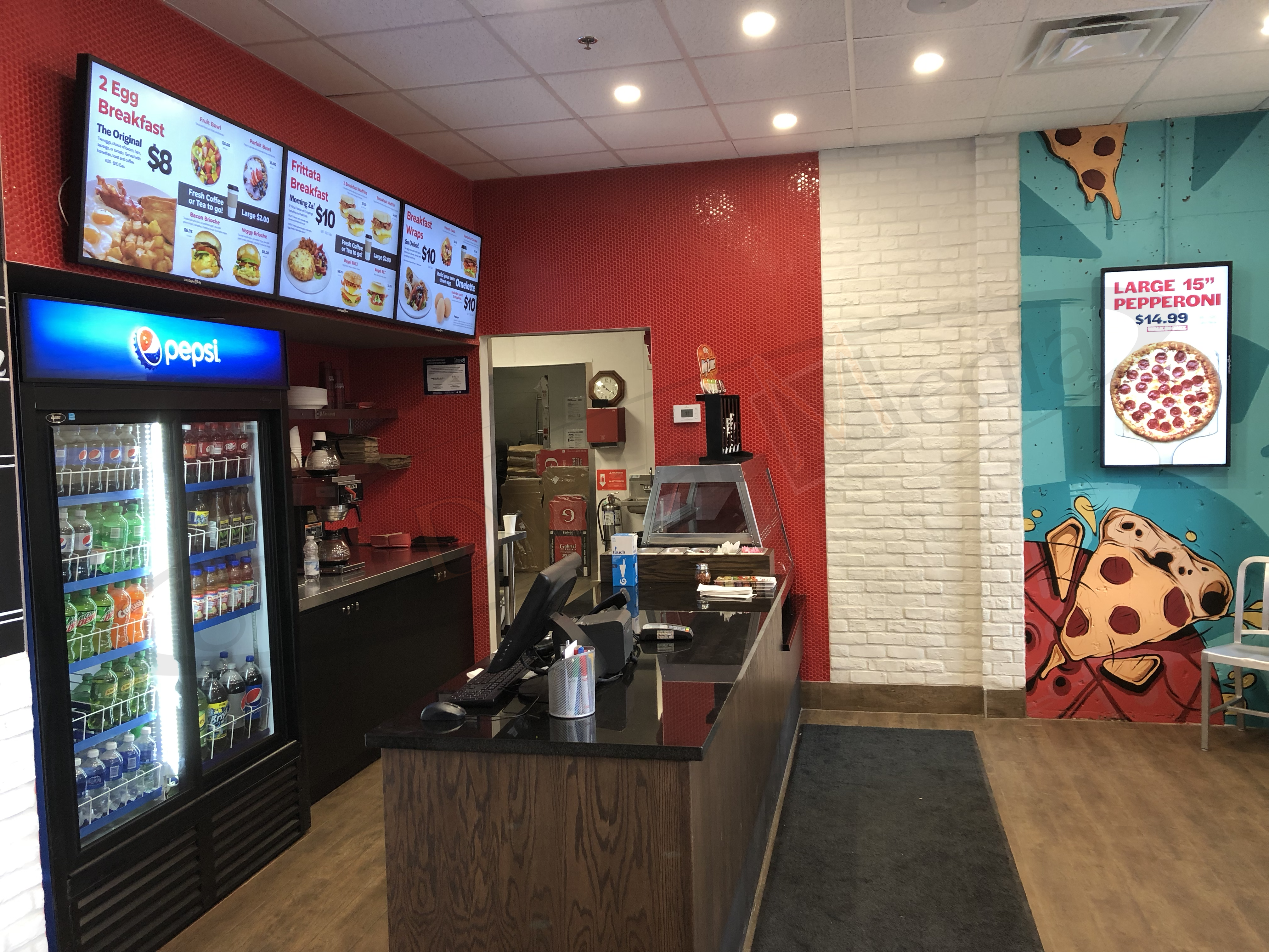 Gabriel Pizza Franchise – Wall Mounted LCD Screen