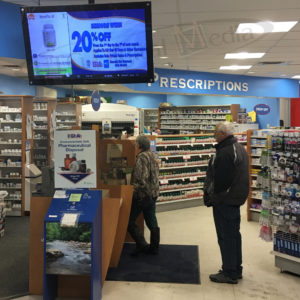IDA Pharmacy – Wall Mounted LCD Screen