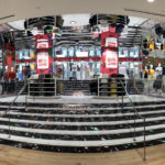 UTG Digital Media Installs Another Unique Led Stairs and Ticker  for Grand Retail Expansion at the CF Toronto Eaton Centre