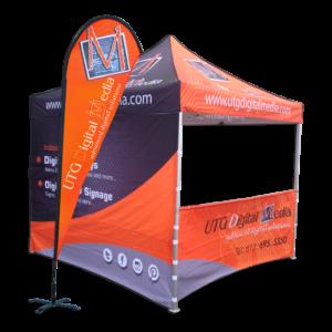 Custom Canopy Tent & Flags