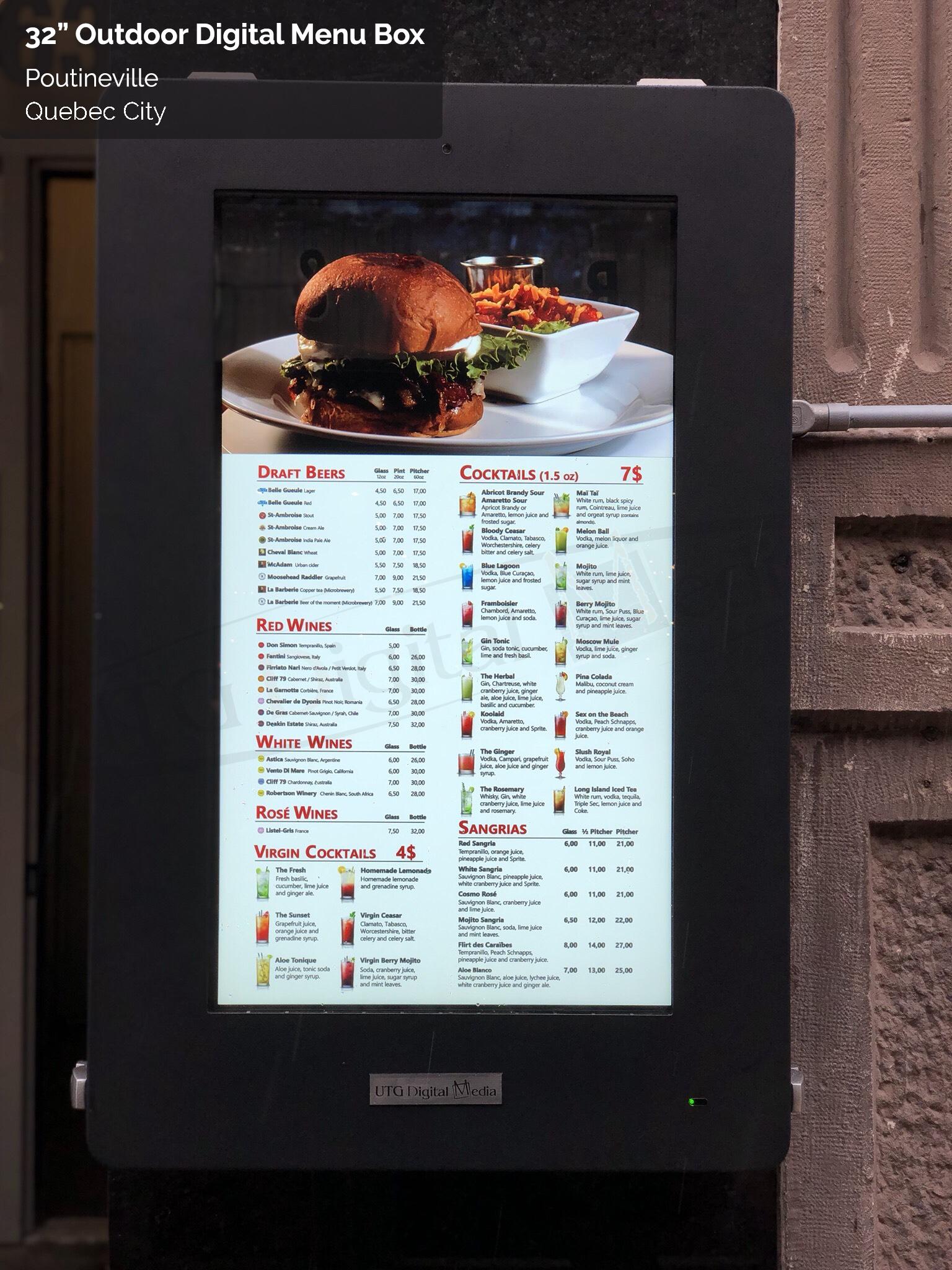 Indoor and Outdoor Digital Signage Displays | UTG Digital Media