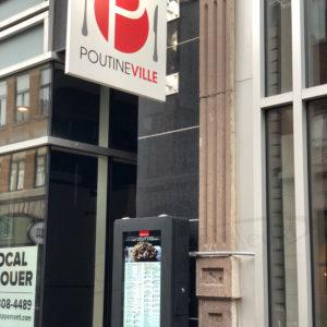 Poutineville Outdoor Digital Menu Box