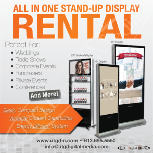 digital signage event rentals