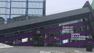 Bank of Canada Museum - LCD Wall Mounted Screens on an angle