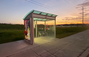 Bus Stop with digital signage