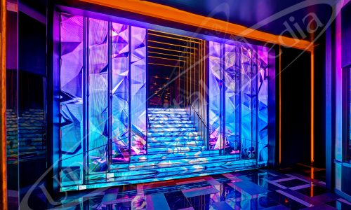 A picture of UTG's award winning staircase in Las Vegas.