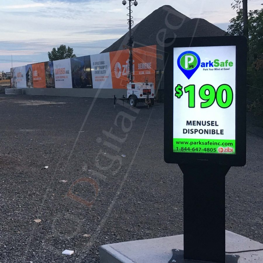 digital box parking lot park safe canada