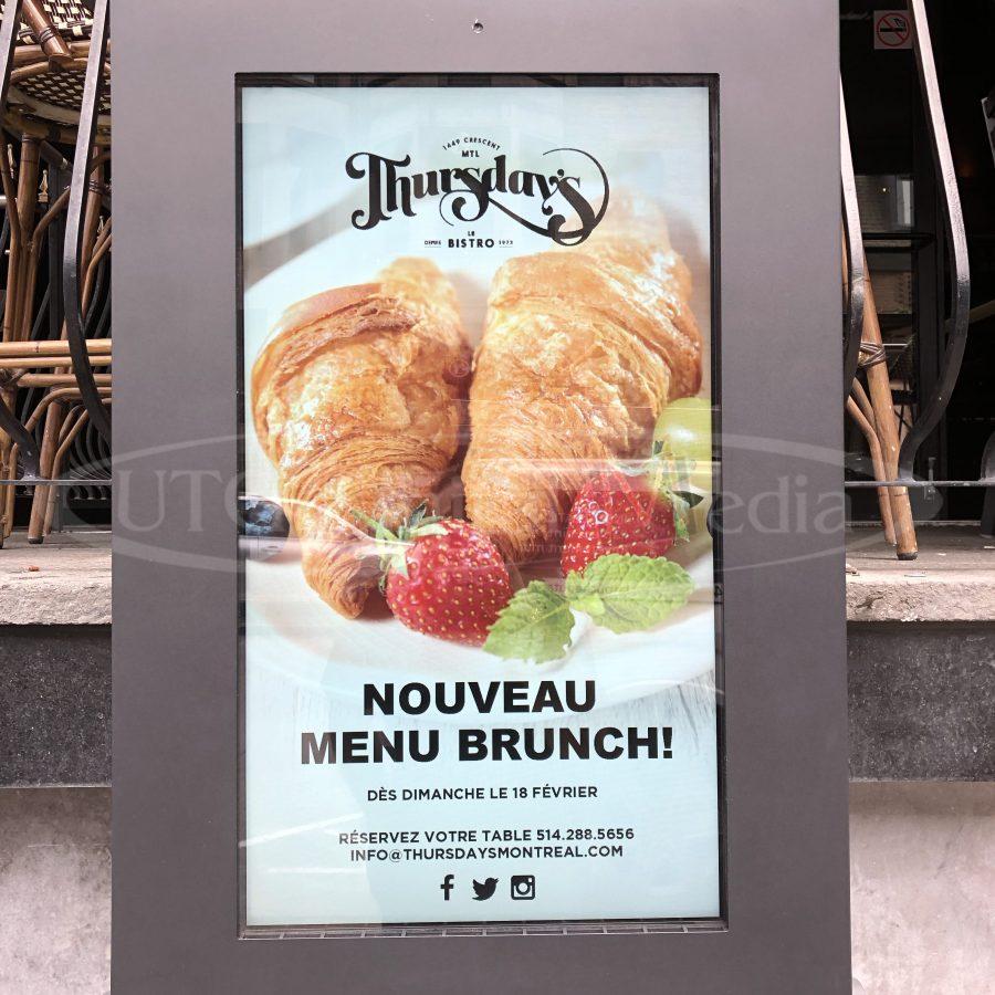 thursdays outdoor menu box
